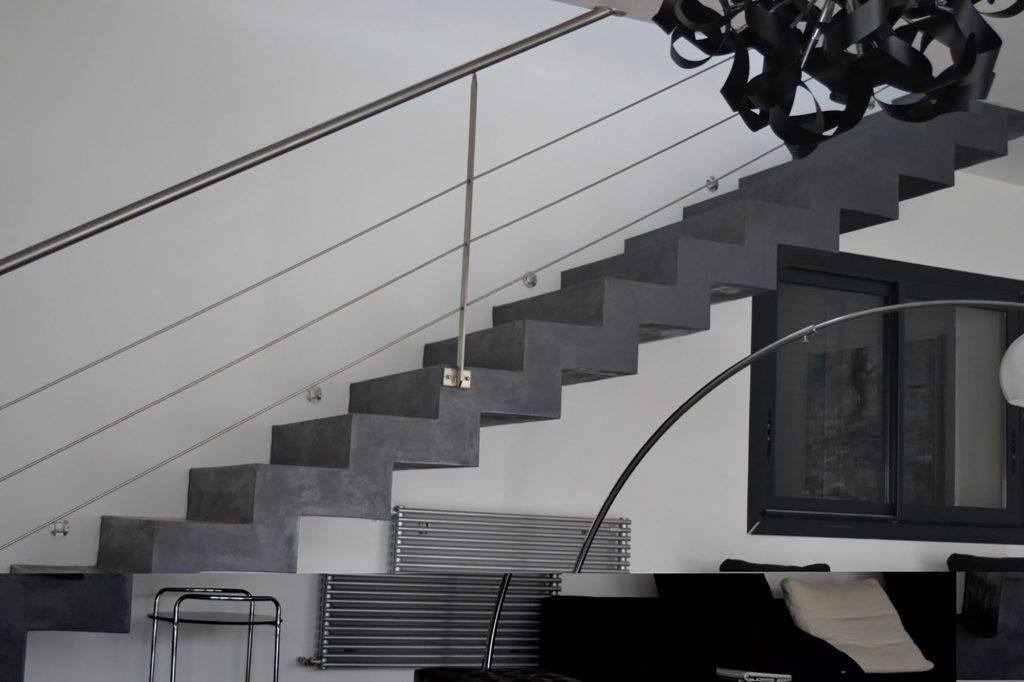 Escalier en béton ciré - Béton ciré 13