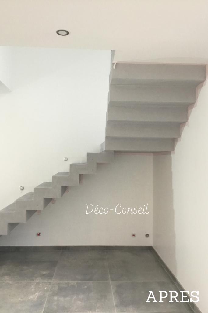 Escalier en béton ciré - Déco Conseil