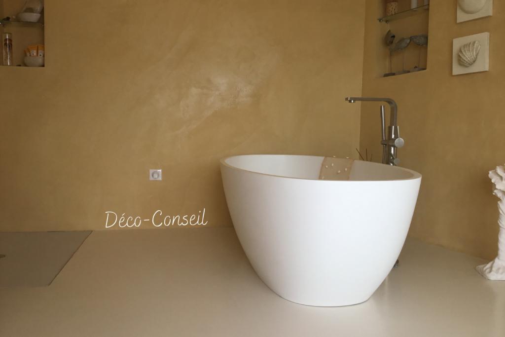 Salle de bain en béton ciré - Déco Conseil